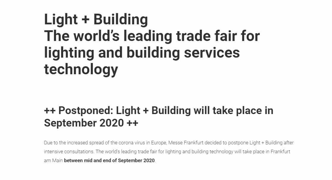 NEWS – light + building settembre